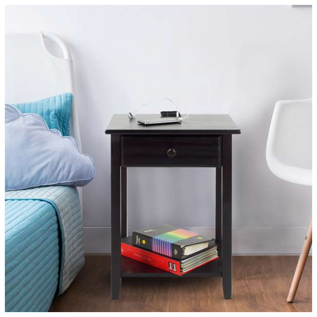 647-23 Casual Home Night Owl Nightstand with USB Ports 5