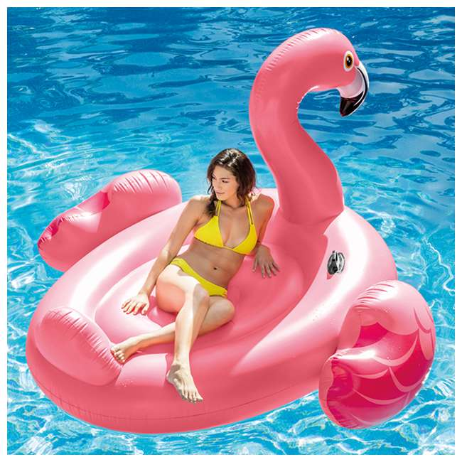 3 x 56288EP-U-A Intex Inflatable Ride-On 86-In Mega Flamingo Island Float (Open Box) (3 Pack) 3