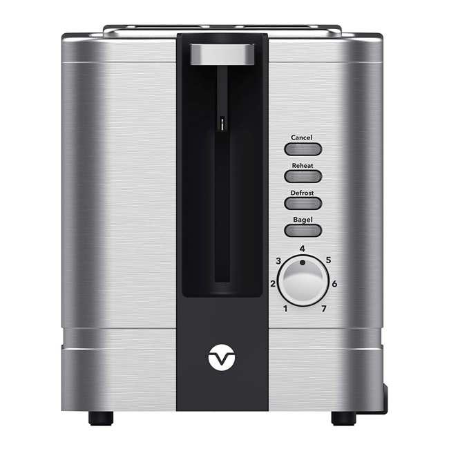 VRM010011N Vremi VRM010011N Retro Stainless Steel Countertop Wide Slot 2 Slice Toaster 1