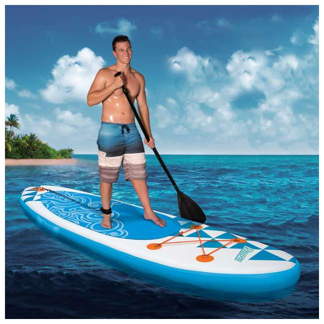 85739 Banzai 10' Inflatable SUP Stand Up Paddle Board Adjustable Paddle & Backpack 10