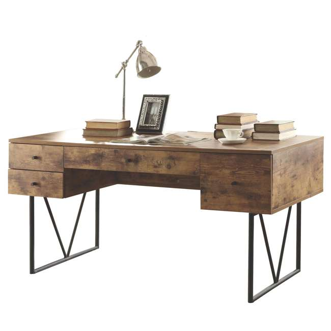 CH-800999-U-B Coaster Home Furniture Barritt 4 Drawer Writing Desk, Antique Nutmeg (Used) 3