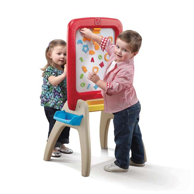 826800 Step2 All Around Easel for Two Kids Dry Erase Chalkboard Easel 1