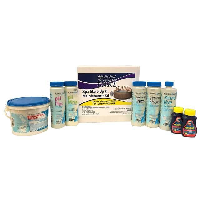 28407E + QLC-14895 Intex Inflatable Pure Spa 6-Person Hot Tub & Chemical Kit 7