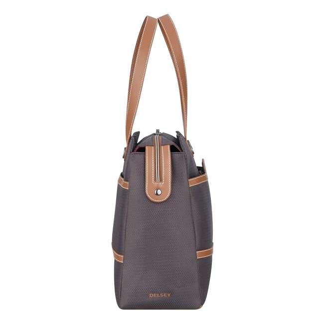 40177435006 DELSEY Paris Women's Chatelet Designer Soft Air Travel Shoulder Bag, Chocolate 2