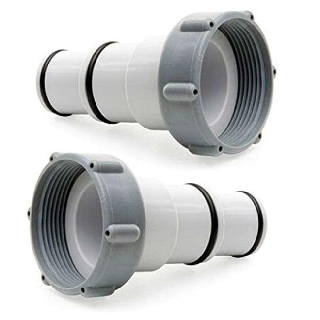 26647EG + 25007 Intex Pool Sand Filter Pump w/Threaded Hose Adapter (Pair) 2