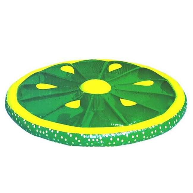 6 x 9054G-U-A Swimline 60-Inch Inflatable Swimming Pool Lime Slice Float (Open Box) (6 Pack)