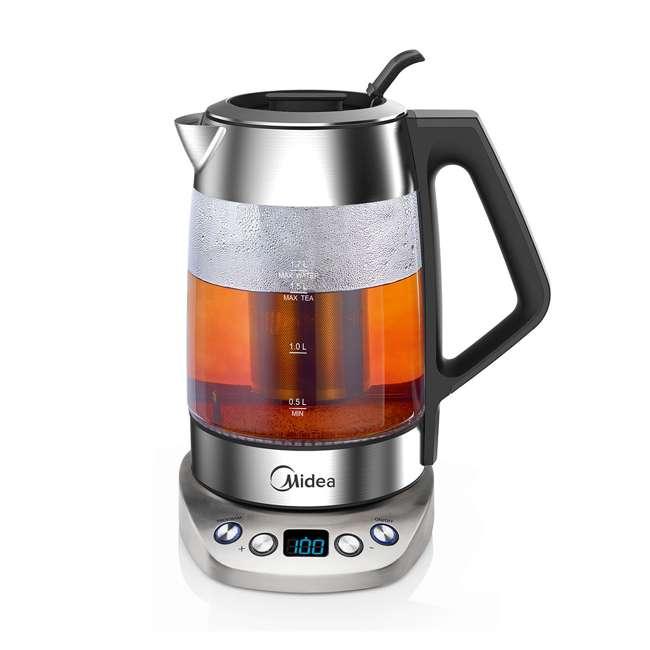 MEK17GT-E8-U-A Midea 1.7-Liter Variable Temperature Electric Tea Kettle, Silver (Open Box) 1