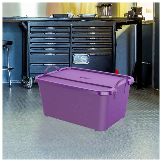 CS55PP-SOLID-U-A Life Story 55 Quart Locking Stackable Storage Container, Purple (Open Box) 3