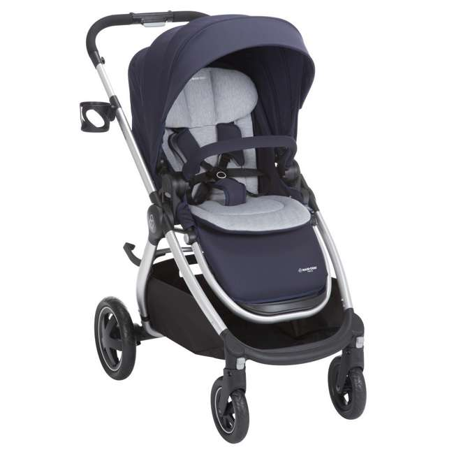 TR362CTD Maxi-Cosi Adorra Stroller and Car Seat Travel System, Brilliant Navy 1
