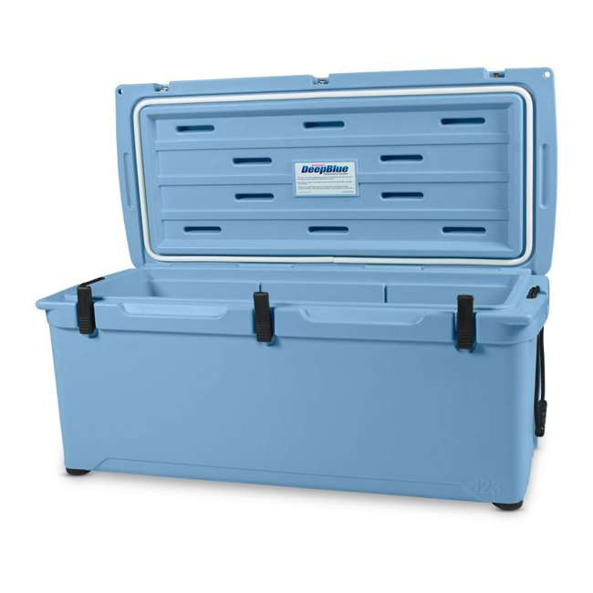 ENG123-B-U-B Engel 123 High Performance 27 Gal Roto Molded 130 Can Cooler, Arctic Blue (Used) 1