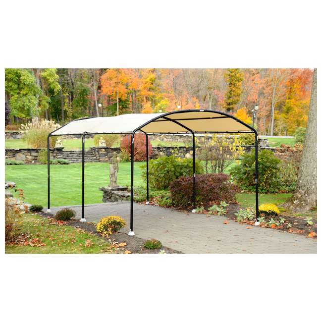 25867 ShelterLogic 25867 18 x 10-Foot Monarc Series All-Purpose Canopy, Sandstone 3