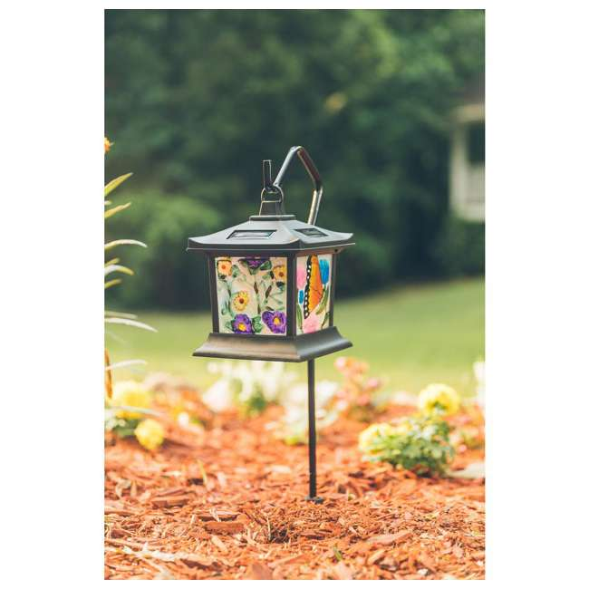 MR-92276 Moonrays Solar Powered LED Garden Outdoor Metal Stake Light 3