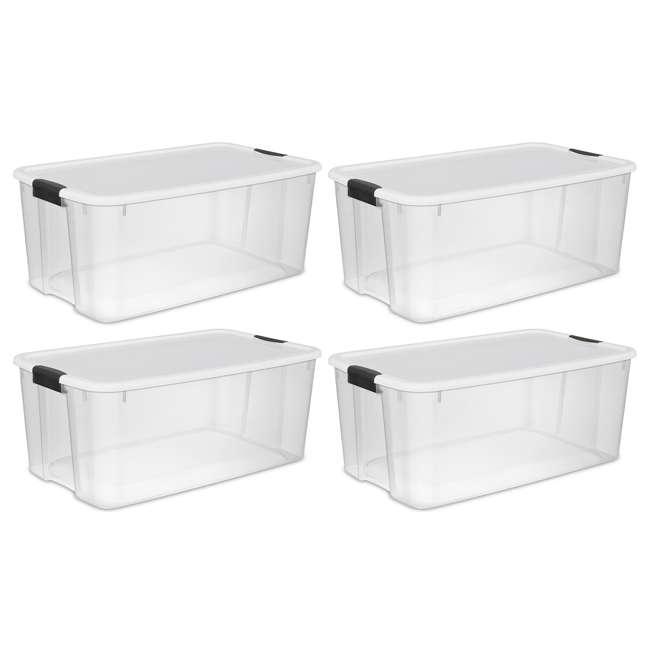 4 X 19909804-U-A New Sterilite 19909804 116 Quart Ultra Latching Storage Tote Box Container Clear