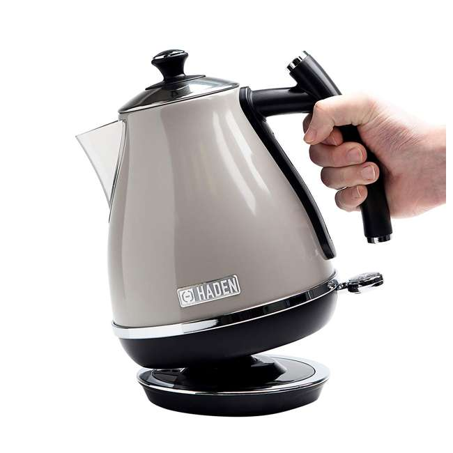 75010 Haden Cotswold 1.7 Liter Stainless Steel Body Retro Electric Kettle, Putty Beige 1