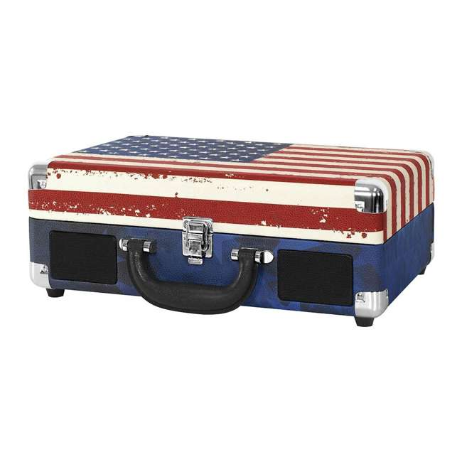 VSC-550BT-USA Victrola 3-Speed Bluetooth Suitcase Record Player, American Flag 1