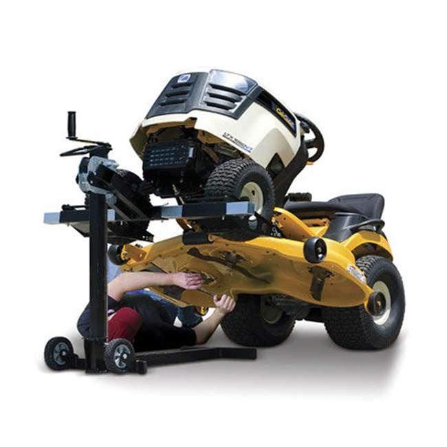 MJ00150-MJXT-U-B MoJack UPC Flat Folding 500lb Capacity Riding Lawn Tractor Mower Lift Jack(Used) 1