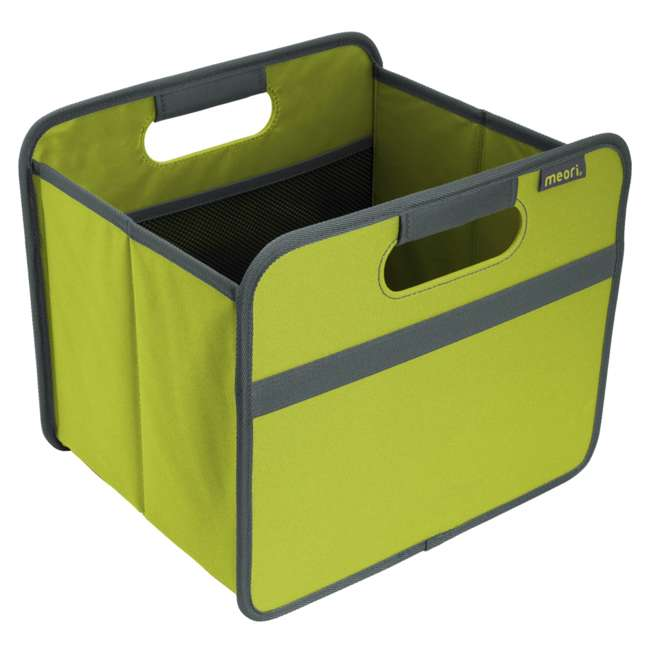 A100060 Meori Classic Collection 4 Gallon Small Foldable Home Storage Box, Spring Green