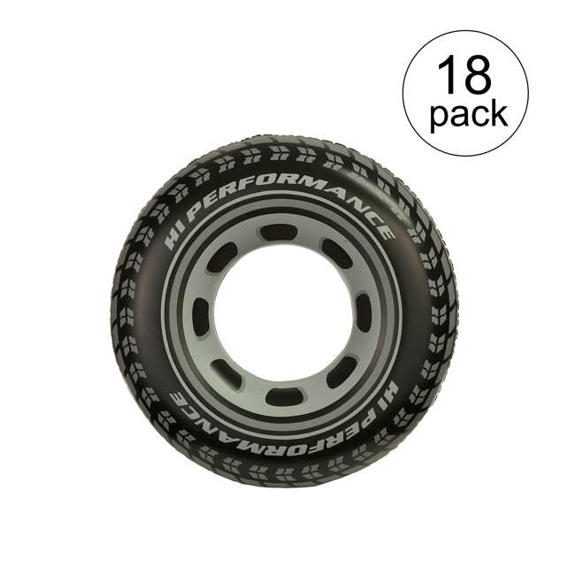 18 x 59252EP Intex Inflatable Giant Tire Tube (18 Pack)