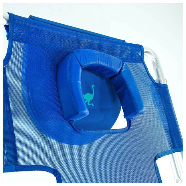 3N1-1001B-U-B Ostrich 3 N 1 Aluminum Frame 5 Position Reclining Beach Chair, Blue (Used) 2
