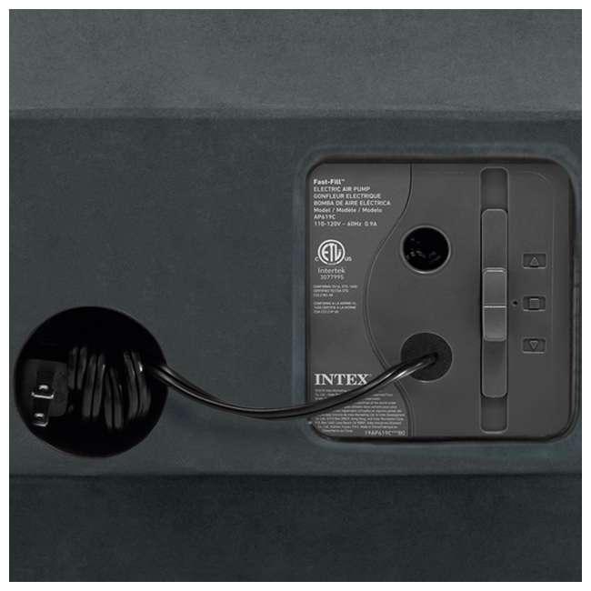 3 x 64417EP-U-A Intex Plush High Rise Dura Beam Airbed w/ Built-In Pump, Queen(Open Box)(3 Pack) 7