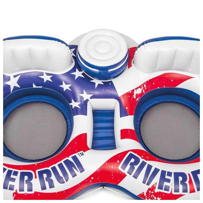 3 x 56855VM-U-A Intex River Run II American Flag Inflatable 2-Person Tube |  (Open Box) (3 Pack) 3
