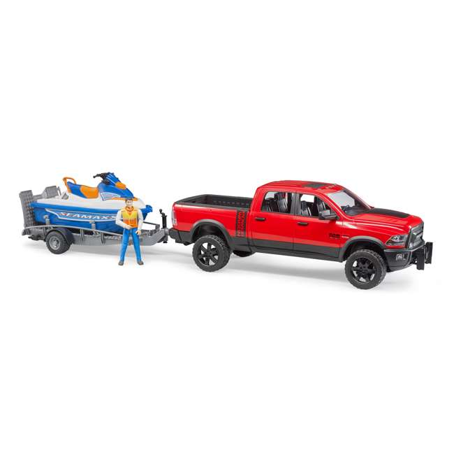 02503-BR Bruder Toys RAM 2500 Power Wagon Truck with Trailer and Jet Ski 4