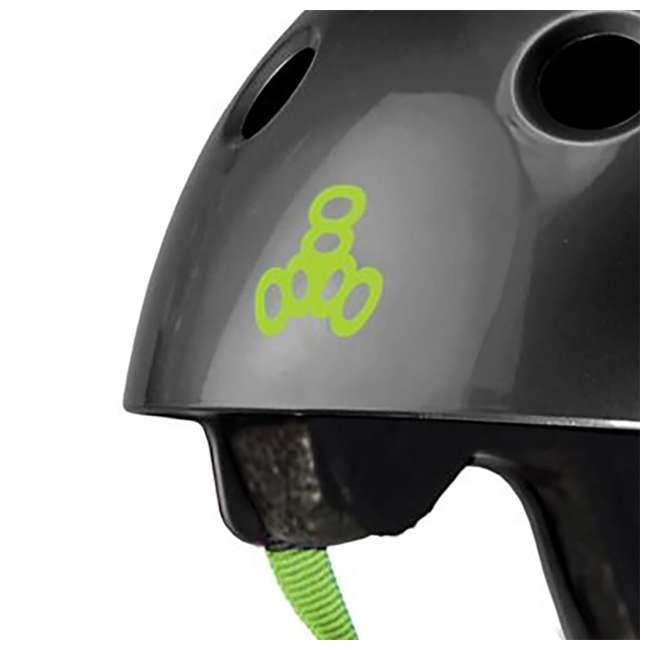 T8-3047-U-A Triple 8 Hardened Dual Certified Skate and Bike Helmet with EPS Liner, S/M 2