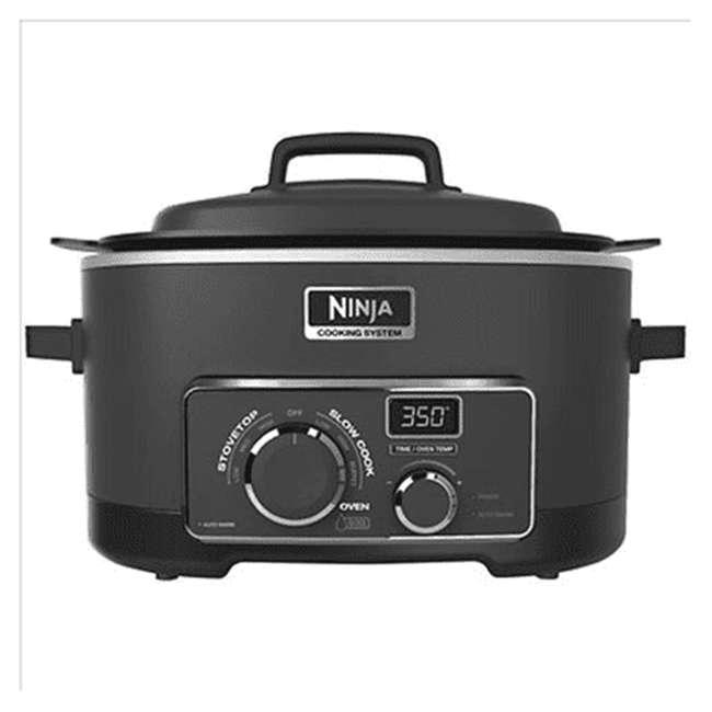 MC703CO_EGB-RB Ninja 3 in 1 6 Quart Multi Function Pro Cooker, Black (Certified Refurbished)