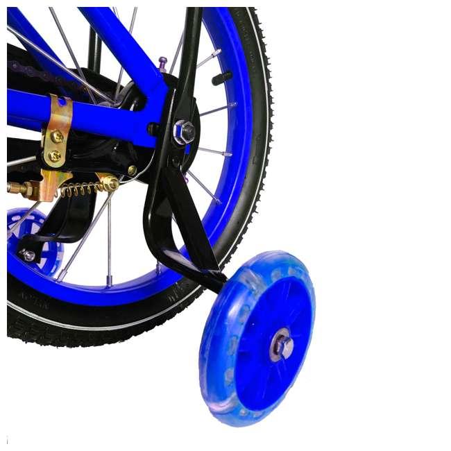 16BK-BLUE NextGen 16 Inch Childrens Kids Bike Bicycle with Training Wheels & Basket, Blue 4