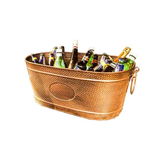 4 x 19088x3 BREKX Copper Finish Hammered Creighton Pebbled Ice Bucket (4 Pack) 1