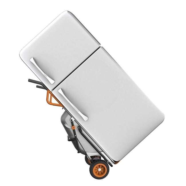 WG050-U-C Worx WG050 Aerot 8-In-1 Wheelbarrow Dolly t Garden rier - Missing Wheel 3