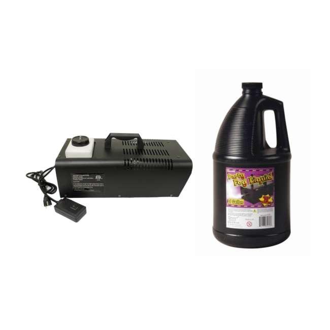 61068 + 61070 Halloween 1000W Fog Machine & Remote with Juice Fluid