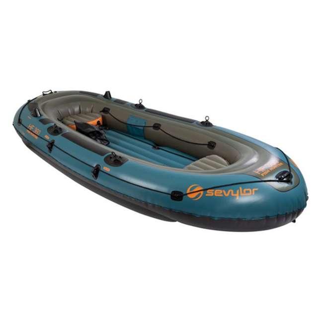 "2000016011 SEVYLOR Fish Hunter 6 Person Inflatable Camping Boat w/ Gear Bag | 11'9"" x 5'7"""