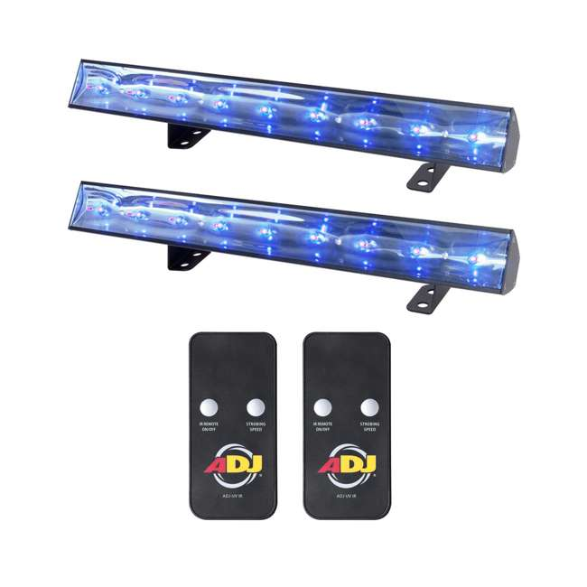 ECO-UVBAR-50-IR (2) American DJ Eco UV Bar 50 IR LED Light Fixtures w/ Remotes