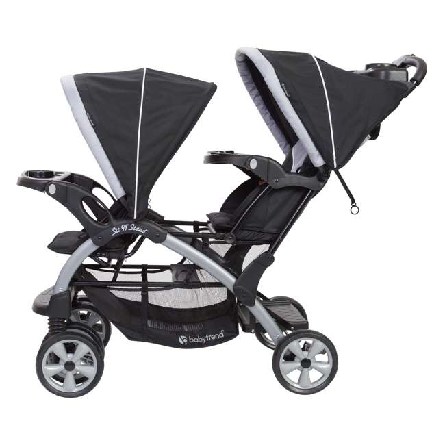 SS76B51A + 2 x CS79B51A Baby Trend Sit N Stand Tandem Stroller + Car Seats (2) Travel System, Stormy 2