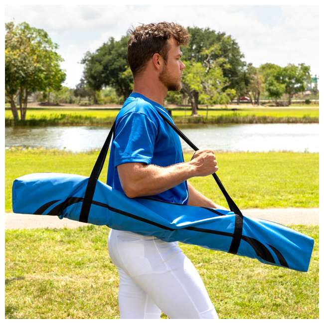 BS100Y19001 Training Equipment Baseball Fiberglass Pitching/Batting Net, Blue and Orange 6