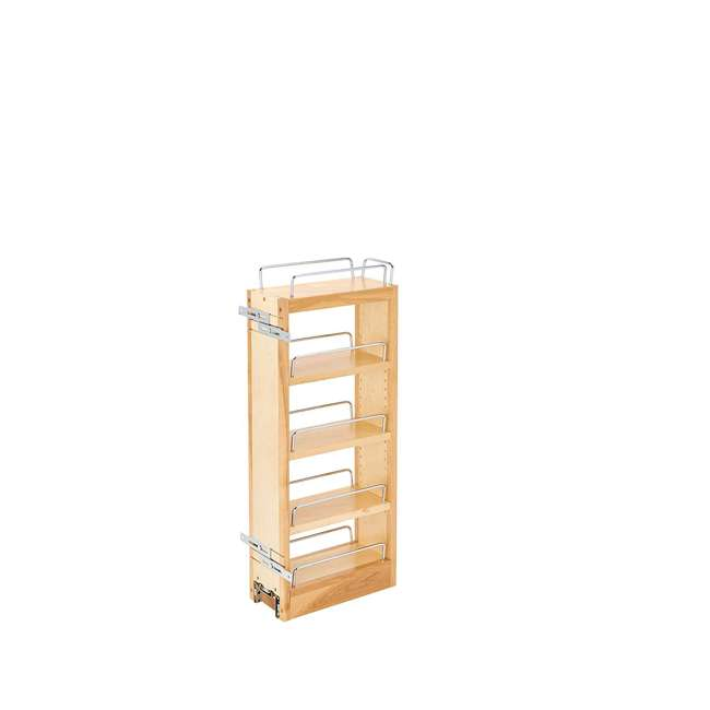 448-WC-5C Rev-A-Shelf 448-WC-5C 5 In Pull Out Wall Cabinet Organizer, Maple Wood (2 Pack) 1