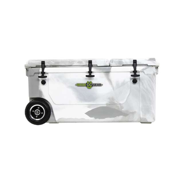 HC75-17W WYLD 75 Quart Pioneer Dual Compartment Insulated Cooler w/ Wheels, White/Grey 2