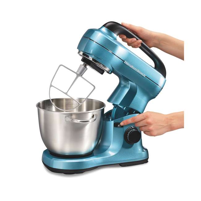 63393 Hamilton Beach 7-Speed Stand Mixer, Blue 2