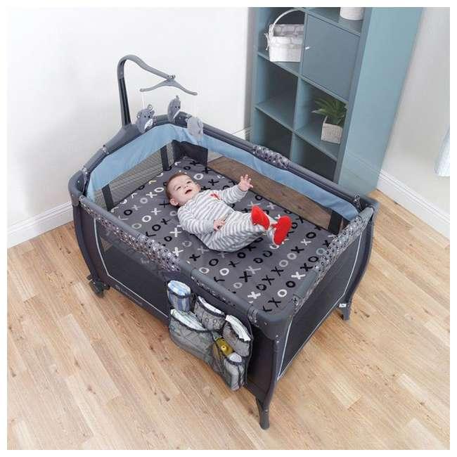 PY86B52B Baby Trend Trend-E Nursery Center Play Yard with Wheels, Starlight Blue (2 Pack) 7