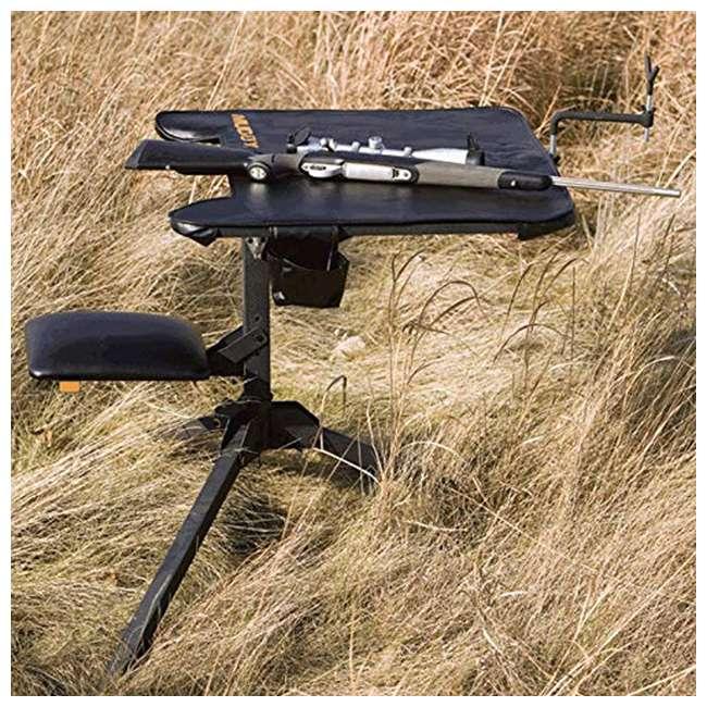 MUD-MSB300 Muddy MUD-MSB300 Swivel Action Shooting Sitting Gunrest Hunting Bench, Black 2