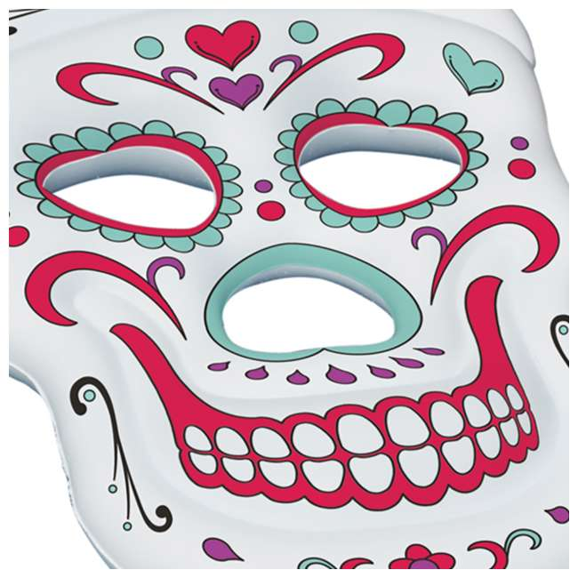 90555-U-A Swimline Giant Inflatable 62-Inch Sugar Skull Pool Island Raft (Open Box) 2