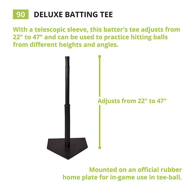 90 Champion Sports Height Adjustable Deluxe Baseball or Softball Batting Tee, Black 2