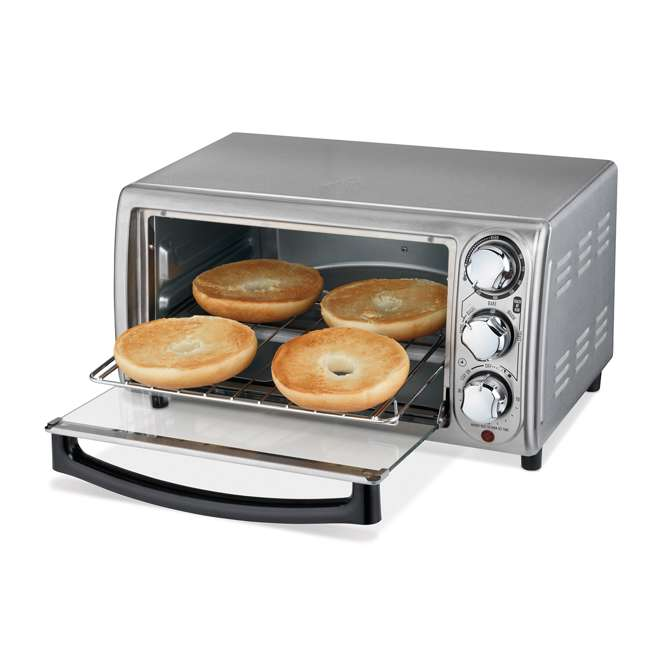 Hamilton Beach 4 Slice Countertop Toaster Oven Stainless
