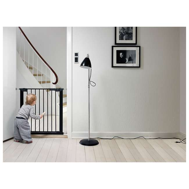 BBD-60116-5692 BabyDan Premier True Pressure Fit 28.9-36.7 Inch Doorway Safety Baby Gate, Black 4