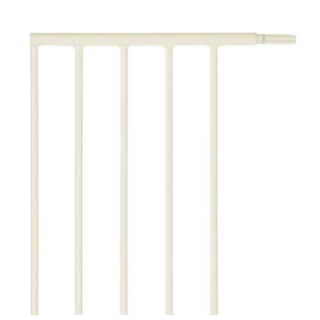 NS-4978 + NS-4974 North States Portico Arch Tall & Wide Safety Gate & 13.42 Inch Extension, Ivory 8