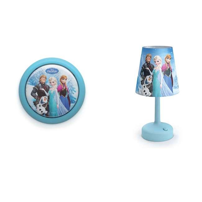 PLC-7192408U0 + PLC-7179608U0 Philips Disney Frozen LED Touch Night Light w/ Philips Disney Frozen Table Lamp