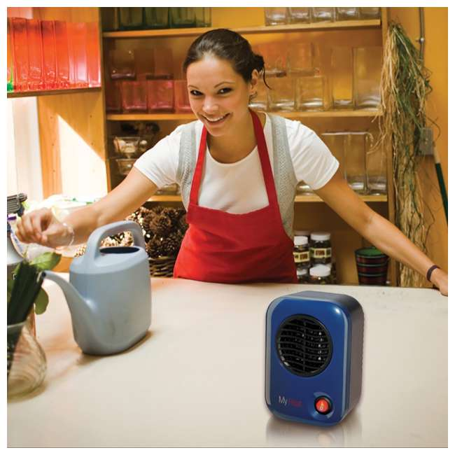 LKO-102-TN Lasko 106 MyHeat Portable Personal Electric 200W Ceramic Space Heater, Blue 2