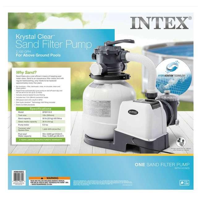 26645EG + 26669EG Intex Pool Sand Filter Pump w/Krystal Clear Saltwater System 6