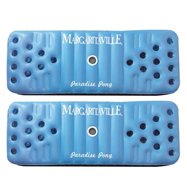 2183222-MW Margaritaville Inflatable Floating Paradise Pong Pool Float (2 Pack)